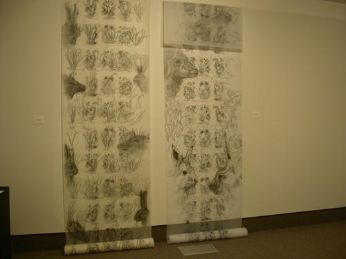22.jpg - Here and There (Installation View) Graphite on Mylar