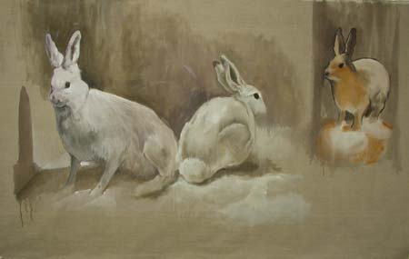 Case-of-Rabbits-oil-on-linen-2005.jpg - Case of Rabbits  Oil on Linen 2005